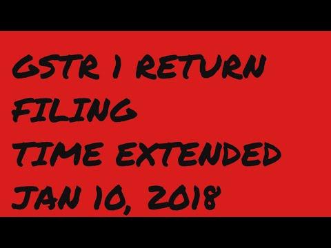 GSTR 1 TIME EXTENDED TIME EXTENDED FOR RETURN FILING