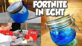 Fortnite in REAL LIFE ! - Potions, weapons & items from Fortnite in real life !