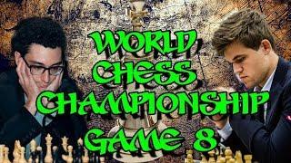 Caruana vs Carlsen | World Chess Championship 2018 - Game 8