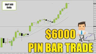 Forex Trading Strategy: Building Value Into A Pin Bar Reversal +$6000 Live Trade!