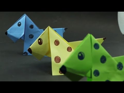 How to Make a Paper Origami Dog? (Easy Crafts - Origami for Kids)