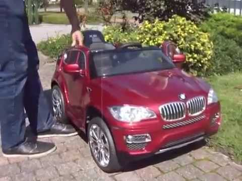 elektrische kinderauto bmw x6 rood metallic youtube. Black Bedroom Furniture Sets. Home Design Ideas