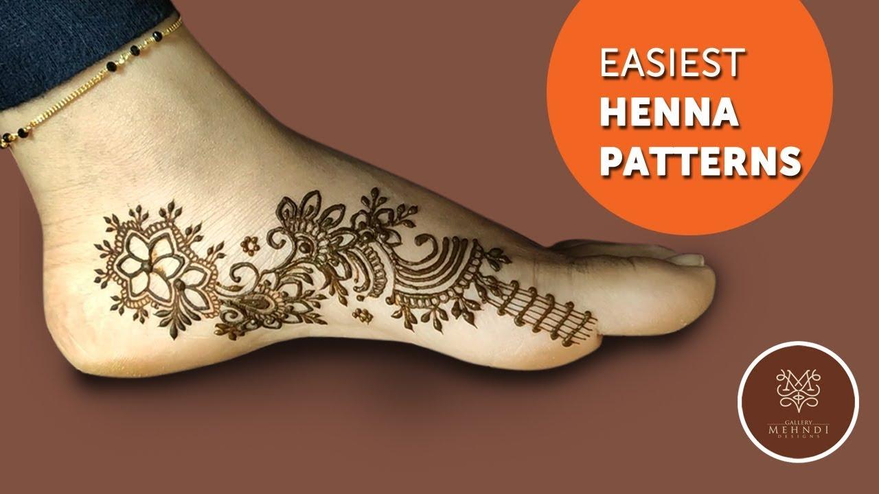 Beautiful Leg Mehndi Design 2019│Easiest henna patterns