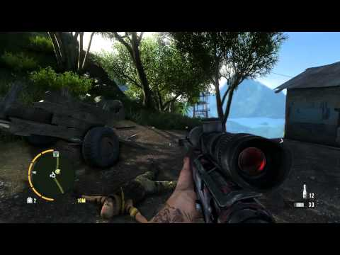 Far Cry 3 AMR Sniping (Plus long range bow kill)