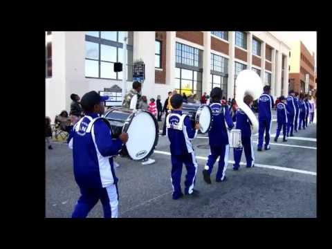 Northern Guilford Middle School Marching Band   Christmas Parade   Dec 2012
