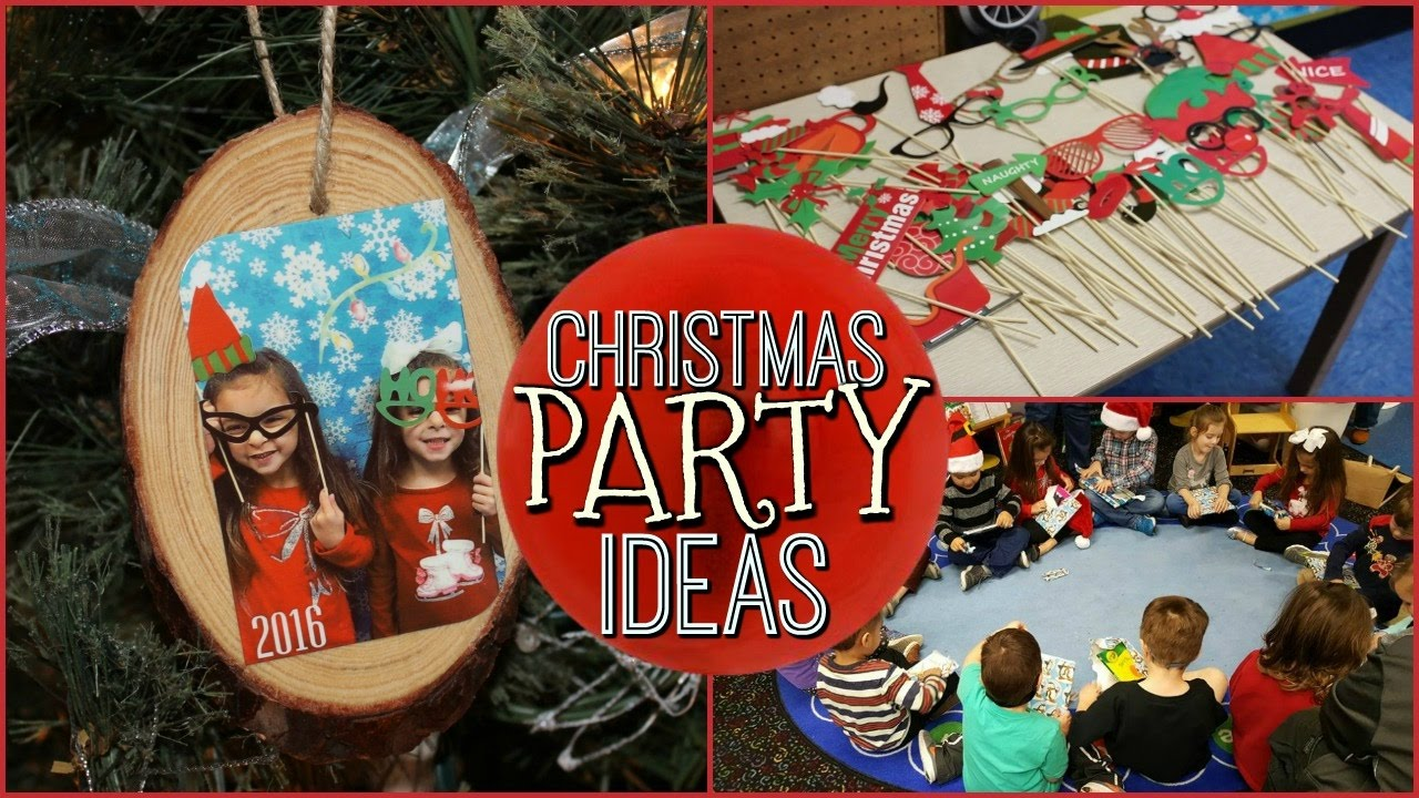 School Christmas Party Ideas Diy Keepsake Ornament Photo Booth