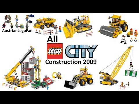 All Lego City Construction Site Sets 2009 - Lego Speed Build Review