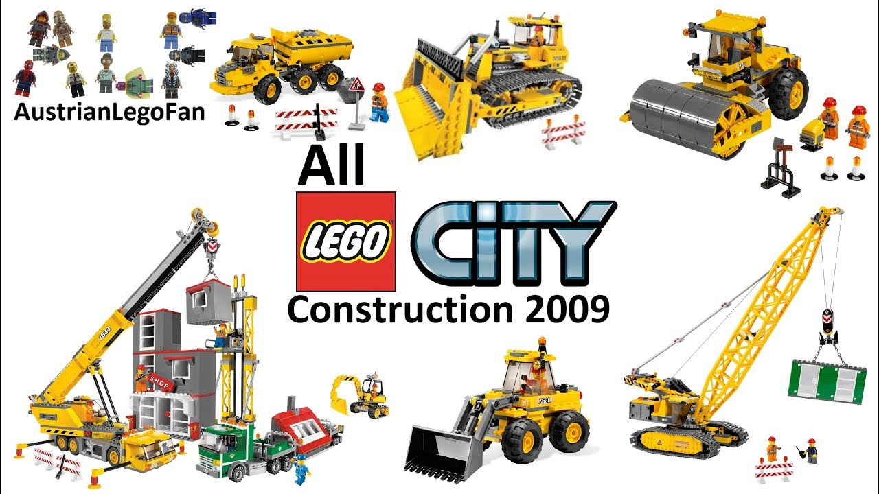 All Lego City Construction Site Sets 2009 Lego Speed Build Review