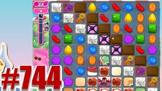 Candy Crush Saga Level 744 | Complete! No Booster!