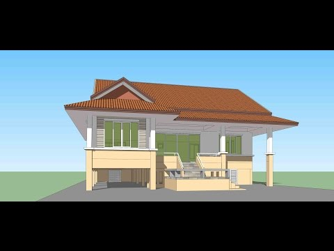 Sketchup Create House model in 1.30 hour