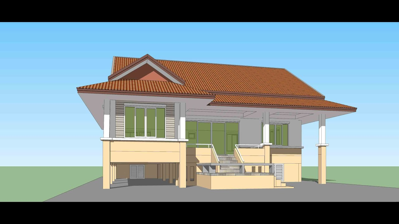 5 Bedroom One Story Floor Plans Tutorial Sketchup Create House Model In 1 30 Hour Youtube