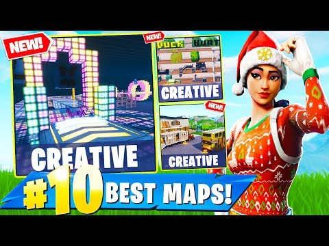 TOP 10 CREATIVE Maps In Fortnite!
