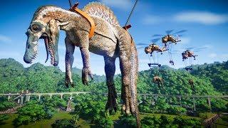 Spinosaurus Vs Indominus Rex Vs Carcharodontosaurus Vs Baryonyx - Jurassic World Evolution