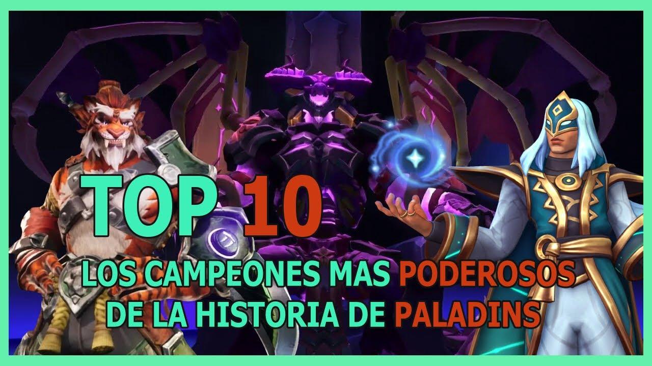 TOP 10 LOS CAMPEONES MAS PODEROSOS DEL LORE DE PALADINS - Skeleton kid