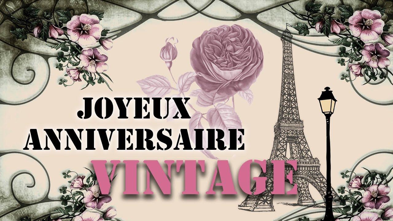 Jolie Carte Virtuelle D Anniversaire Joyeux Anniversaire Vintage Jazz Youtube