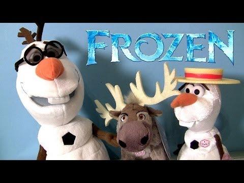 Disney Frozen Olaf Singing Plush Snowman Sven The Reindeer