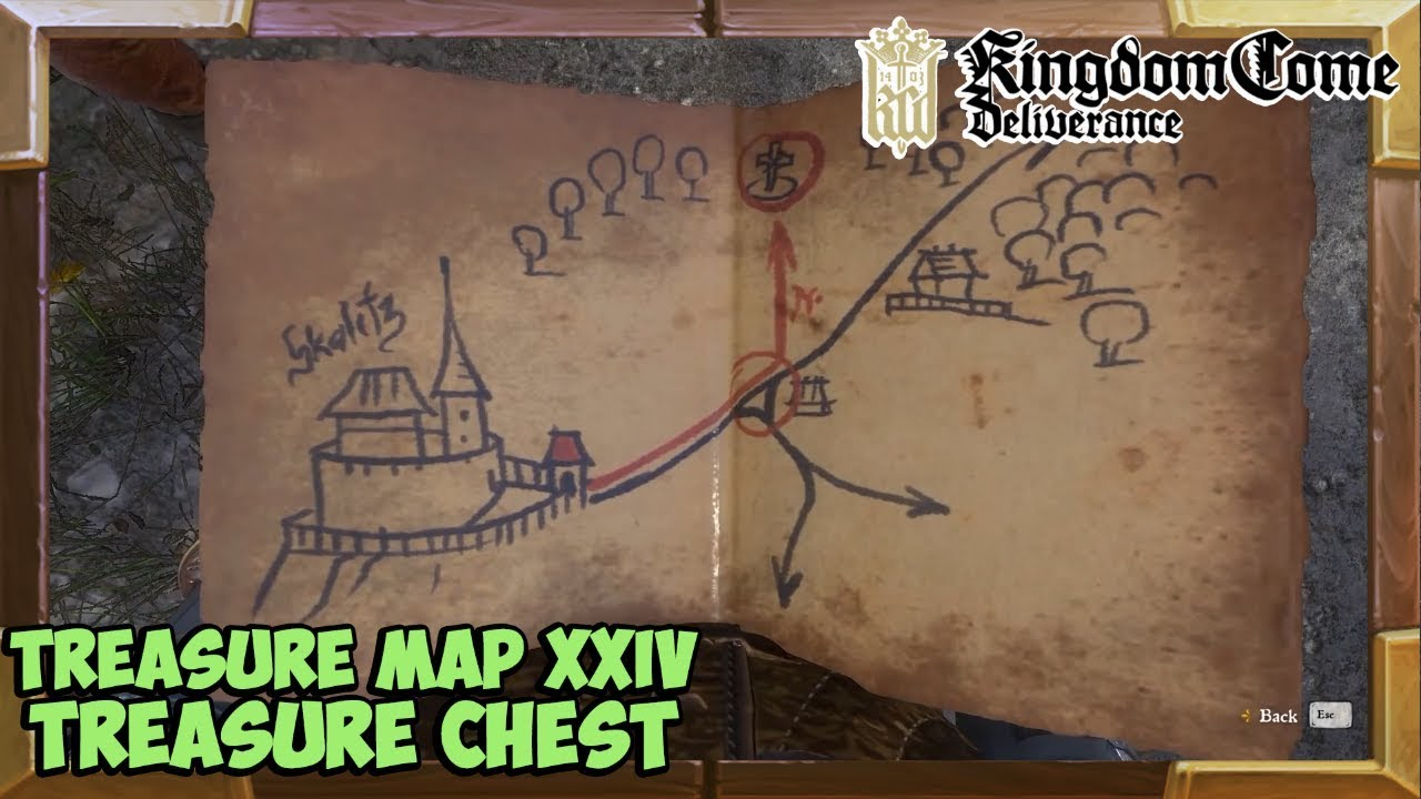 Kingdom Come Deliverance Treasure Map 24 Treasure Location   YouTube Kingdom Come Deliverance Treasure Map 24 Treasure Location