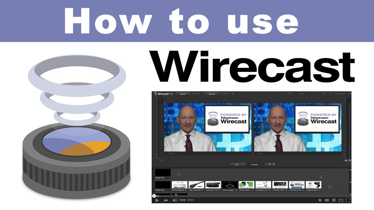How to use Telestream Wirecast 6 for producing broadcast videos - YouTube