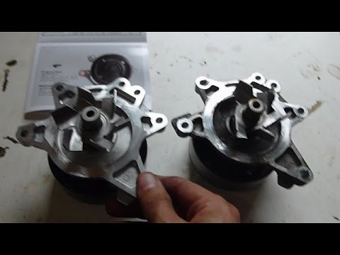 Pontiac Vibe (Toyota Matrix and Corolla 1zz-fe) Water Pump Replacement Highlights