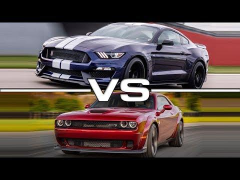 Ford Mustang Shelby GT vs  Dodge Challenger SRT Hellcat
