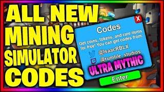 All New(140+ Codes)Mining Simulator Codes - Roblox 2019