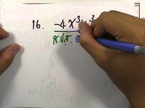 เลขกระทรวง เพิ่มเติม ม.1 เล่ม2 : แบบฝึกหัด2.1 ข้อ01 (13-18)