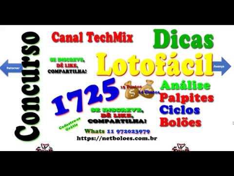 Análise Lotofácil 1725 Com Dica e Palpites Cadastre se grátis no site netboloes com br - YouTube