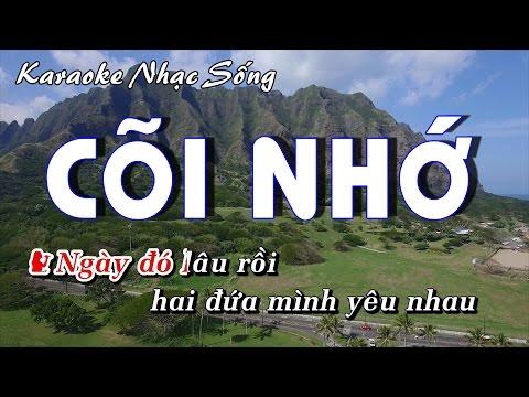 Karaoke Nhạc Sống | CÕI NHỚ | Beat chất lượng cao