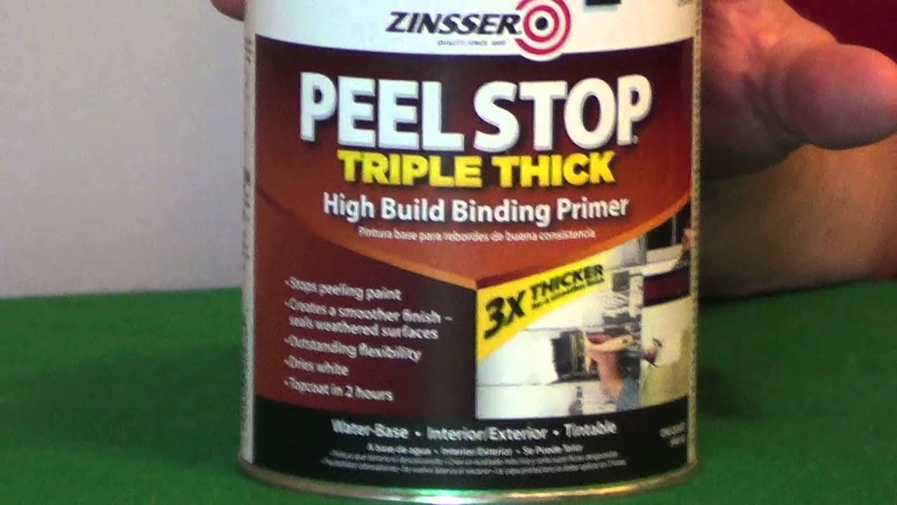 Primer For Peeling Paint Peel Stop YouTube - Painting over mildew in bathroom