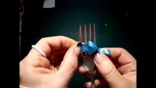 mała kokardka na widelcu, tutorial
