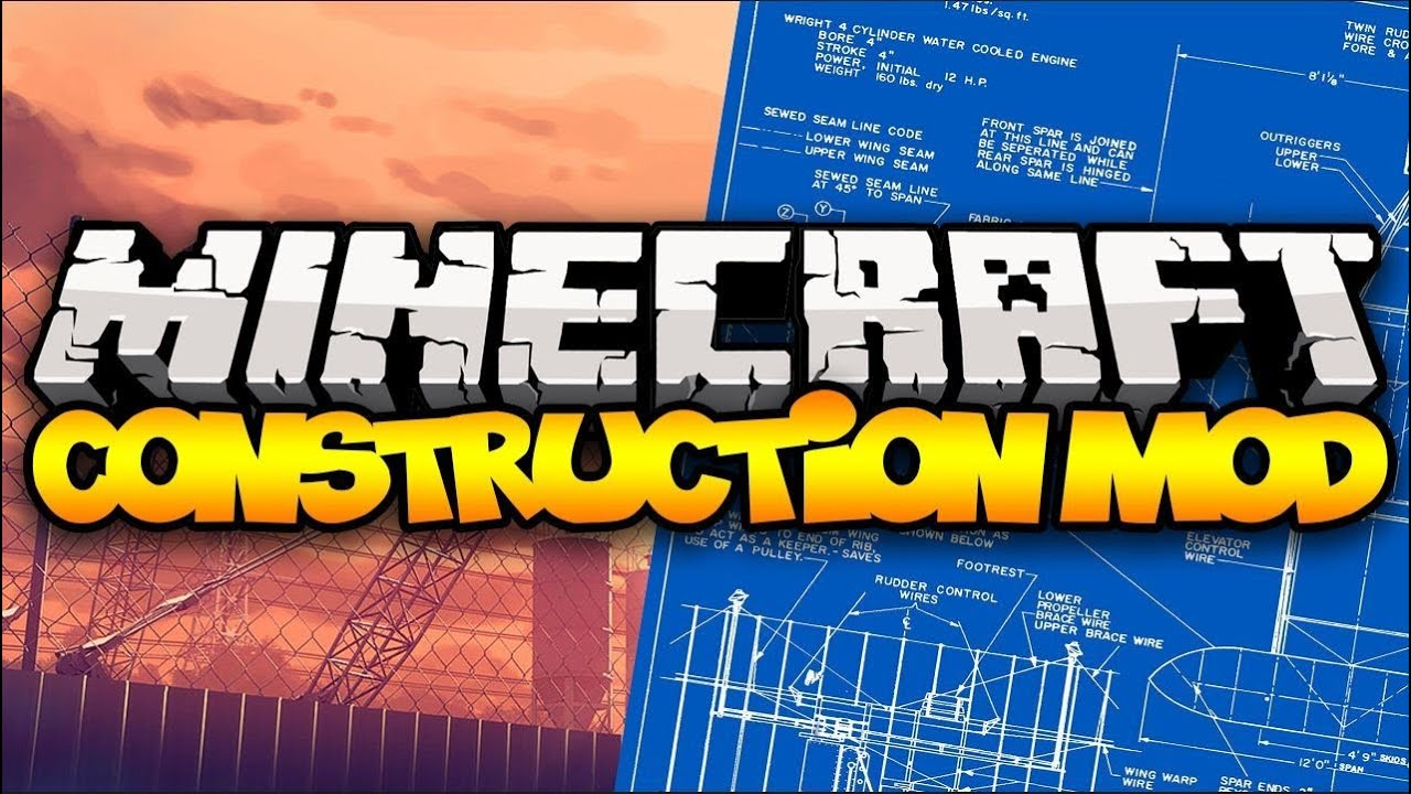Minecraft: CONSTRUCTION MOD! (Blueprints, Houses, Building, U0026 MORE!) | Mod  Showcase   YouTube