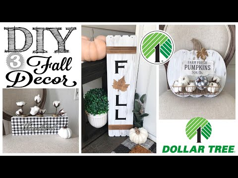 DIY Dollar Tree Fall Decor | 3 PROJECTS!