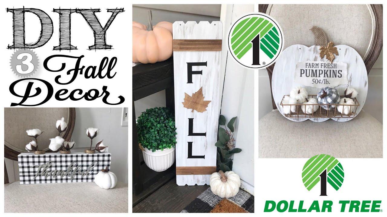 Diy Dollar Tree Fall Decor 3 Projects