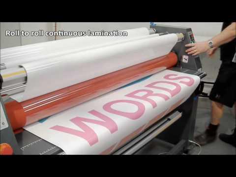 Wide Format Cold Laminator Signmaster 1600 From Laminat