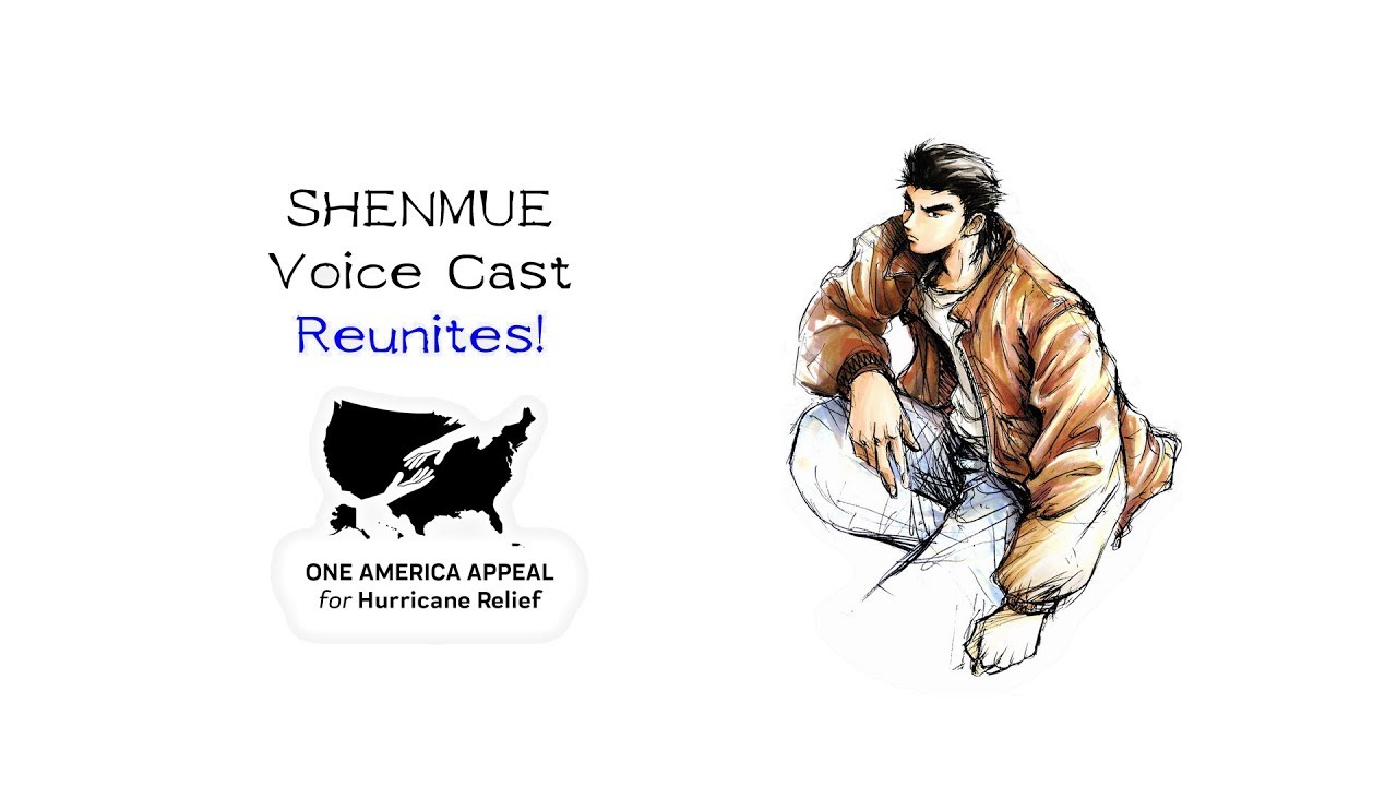 Shenmue voice cast reunites for hurricane relief!