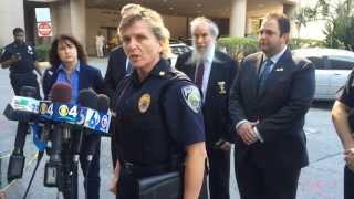 North Miami Beach SRT officer Lino Diaz shot twice