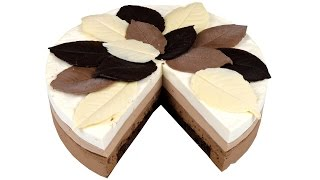 """Торт """"Три шоколада"""". Нежный муссовый шоколадный торт. Подробный видео рецепт."""