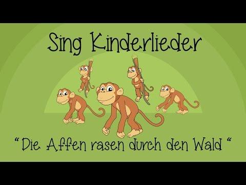 Die Affen rasen durch den Wald - Kinderlieder zum Mitsingen | Sing Kinderlieder