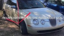 How to open Jaguar s type trunk with dead battery