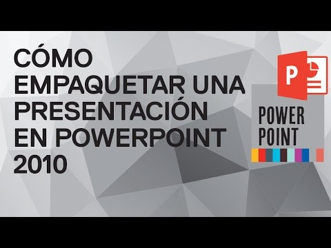 Cómo empaquetar una presentación en PowerPoint 2010. Preparar presentación para otro ordenador.