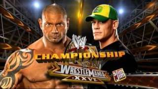 WWE Wrestlemania 26 - John Cena vs Batista - Matchcard (HQ)