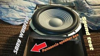 Panasonic sc-akx200 - Sony Woofer - Sound test 🎶🔊