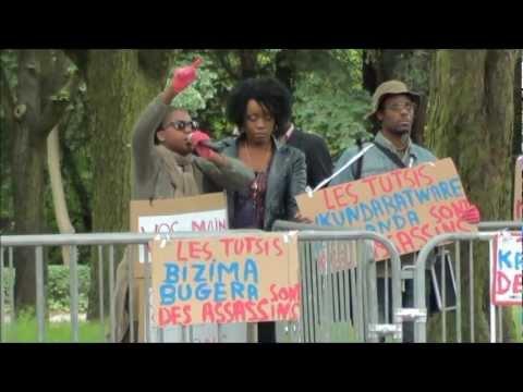 SIT-IN DEVANT AMBASSADE RWANDA BXL CONTRE GENOCIDE DES CONGOLAIS.wmv