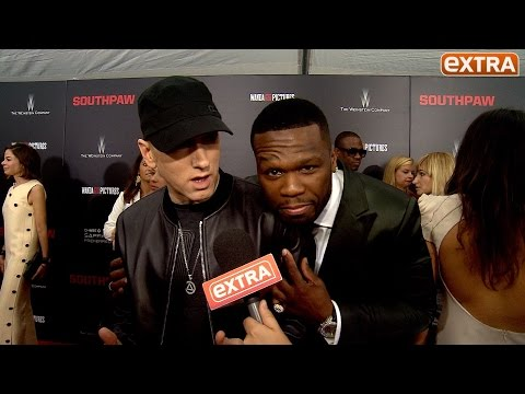 Our Eminem Interview Gets Crashed by 50 Cent: 'Who Is This Guy?'