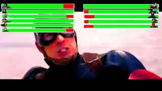 Captain America: Civil War - Airport Battle Scene Part 1 with healthbars (7000 Subscribers Special)