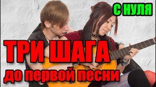 Как научиться играть на гитаре - урок 1 - Простейшие аккорды, переходы, упражнения, баре