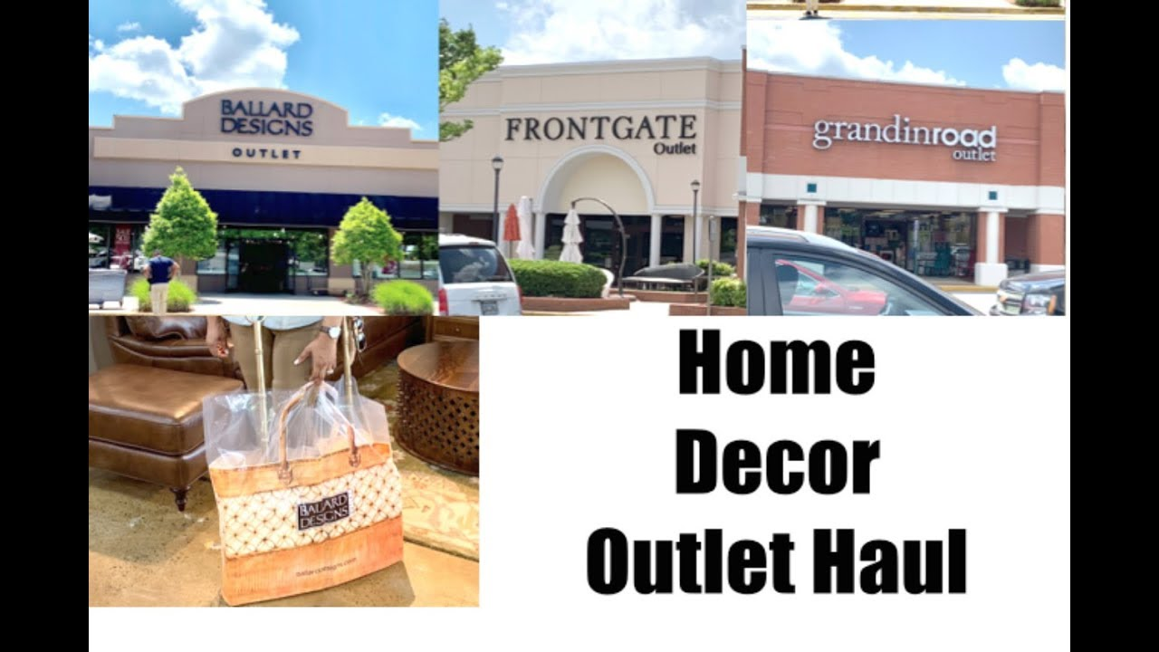 Home Decor Haul Shop With Me Ballard Frontgate Grandinroad Outlets Youtube