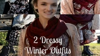 Michaela's Winter Lookbook- 2 Dressy Outfits! Thumbnail