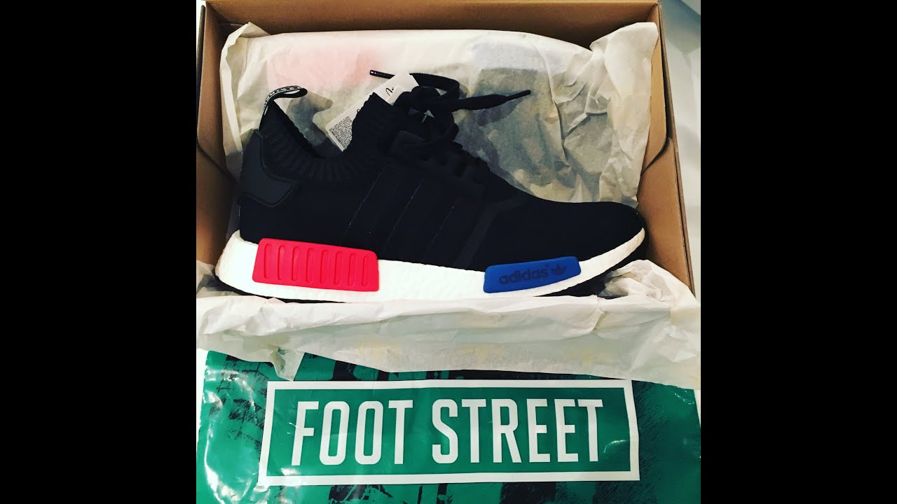 lubedn Unboxing : adidas NMD Runner PrimeKnit OG Red & Blue - YouTube