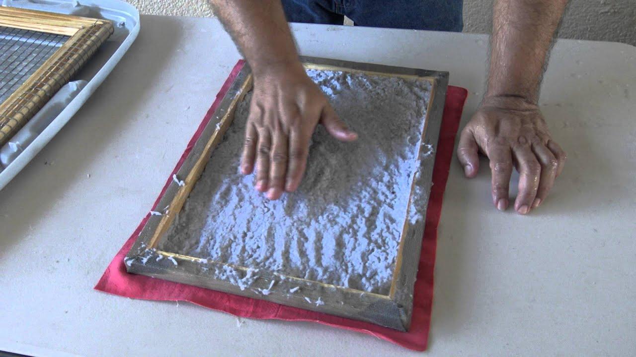 Como hacer papel reciclado para pirograbado youtube - Como se pone el papel pintado ...